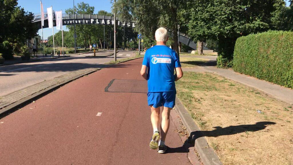 Gerard aan het joggen
